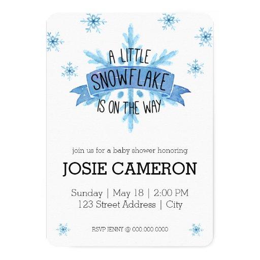 little snowflake baby shower invitation zazzle
