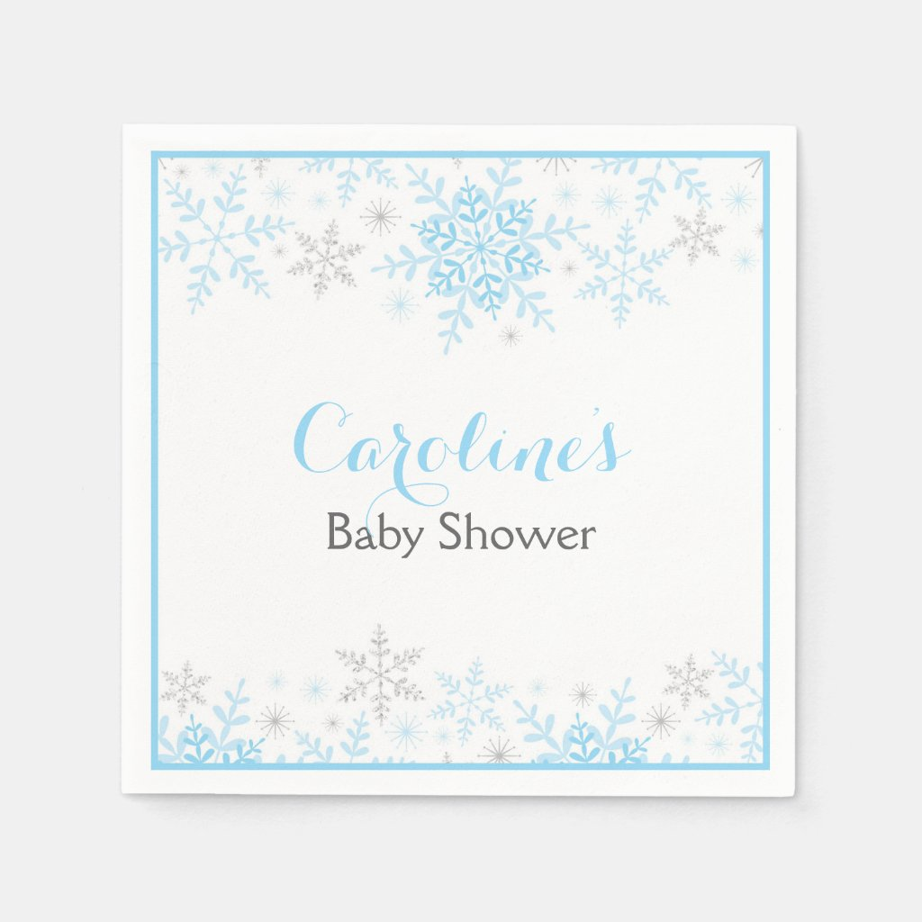 Little Snowflake Baby Shower Napkin