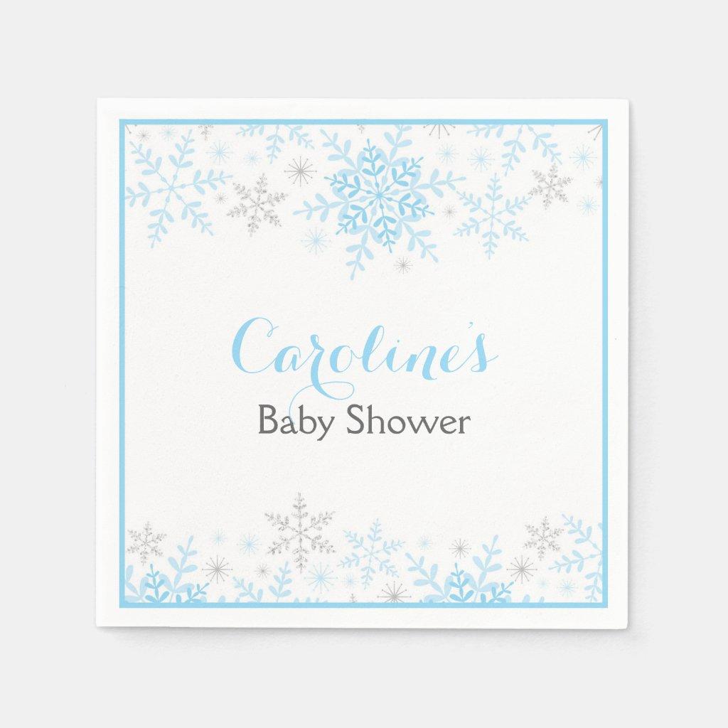 Little Snowflake Baby Shower Napkin