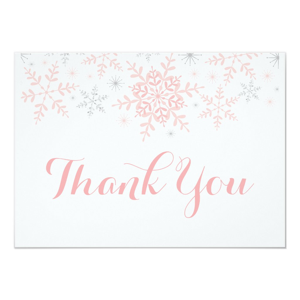 Little Snowflake Baby Shower Thank You Invitation