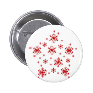 Little Snowflakes in Red Buttons