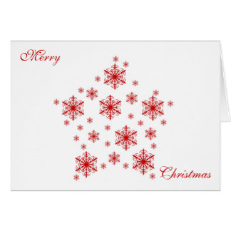 Little Snowflakes in Red Greeting Cards