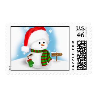 Little Snowman Christmas Postage