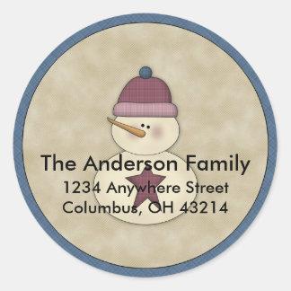 Little Snowman D3 Return Address Labels