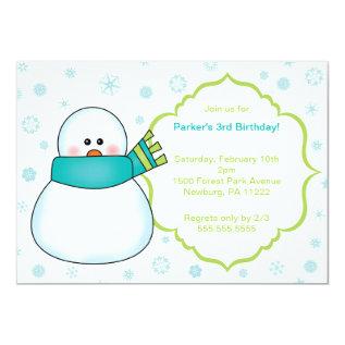Little Snowman Winter Birthday Party Invite at Zazzle