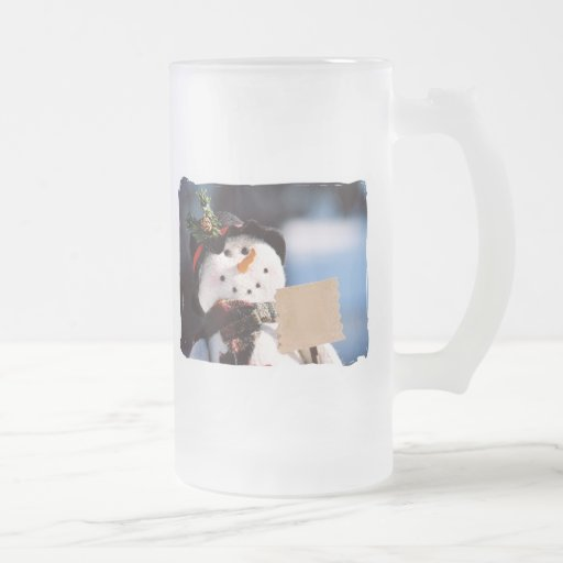 Little Snowman With Customizable Sign Coffee Mug
