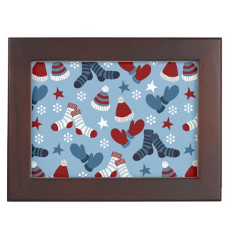 Little Socks, Hats, Mittens Holiday Pattern Memory Box