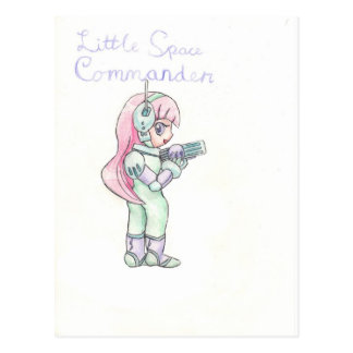 Little Space Commander Postcard
