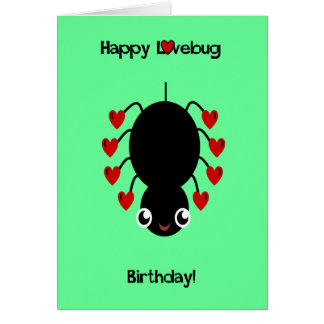 Little Spider Love Bug Card