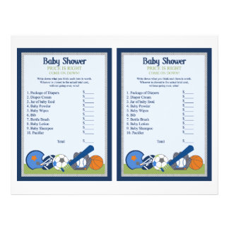 """Little Sports Player """"Price is Right"""" Game Flyer"""
