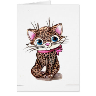 Little spotted kitten card