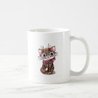 Little spotted kitten coffee mug