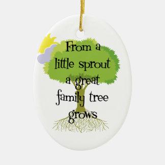 Little Sprout Genealogy Ornament Ornaments