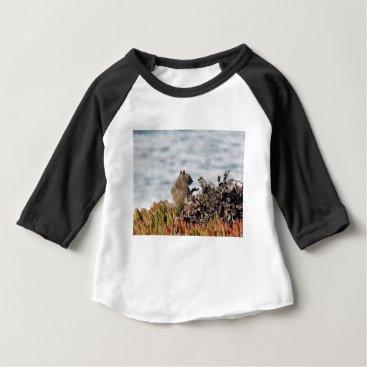 Beach Themed Little squirrel baby T-Shirt
