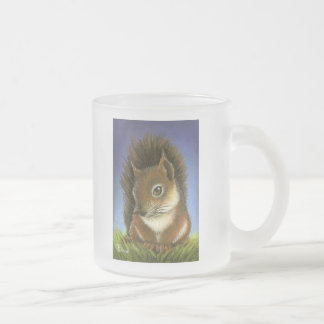 Little squirrel frosted glass coffee mug