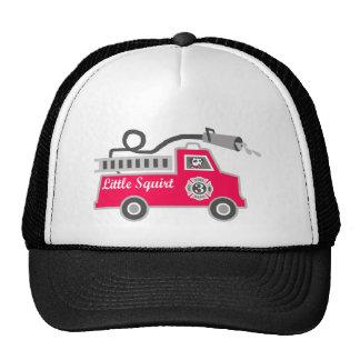 Little Squirt Firetruck for Boy Trucker Hat
