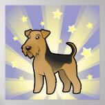 Little Star Airedale Terrier / Welsh Terrier Poster