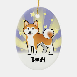 Little Star Akita Inu / Shiba Inu (add pets name) Ceramic Ornament