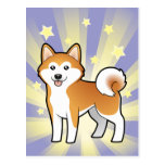 Little Star Akita Inu / Shiba Inu Postcard