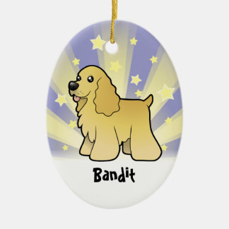 Little Star American Cocker Spaniel Ceramic Ornament