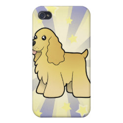Case Savvy iPhone 4 Matte Finish Case with Cocker Spaniel Phone Cases design