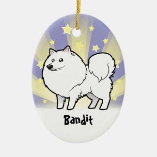 Little Star American Eskimo Dog / German Spitz Ceramic Ornament