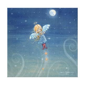 Little Star Angel Canvas Print