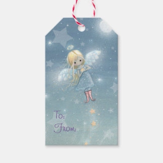 Little Star Angel Christmas Gift Tags
