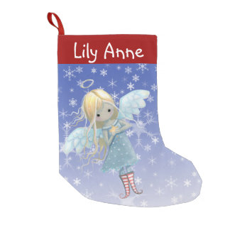 Little Star Angel Christmas Stocking Personalized Small Christmas Stocking