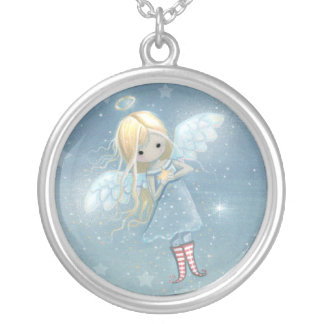 Little Star Angel Sterling Silver Necklace