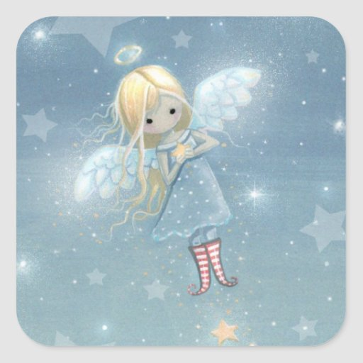 Little Star Angel Stickers Great for Gift Tags