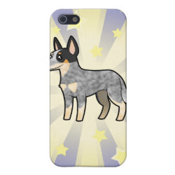 Case Savvy iPhone 5 Matte Finish Case with Australian Cattle Dog Phone Cases design