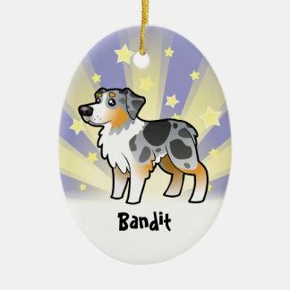 Little Star Australian Shepherd Ceramic Ornament