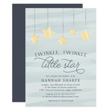 RedwoodAndVine Little Star Baby Shower Invitation | Mint
