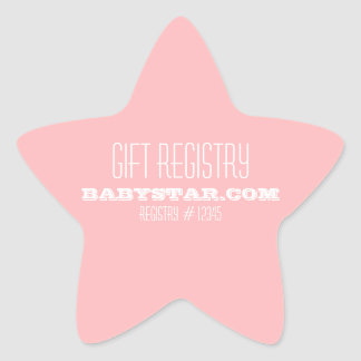 LITTLE STAR BABY SHOWER REGISTRY STICKER