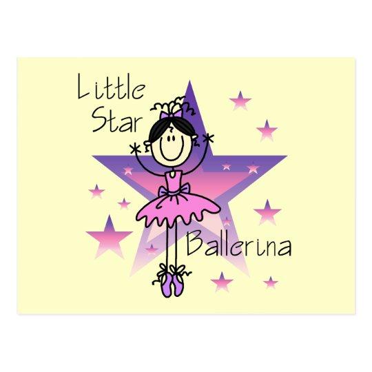 Little Star Ballerina-Black Hair Postcard