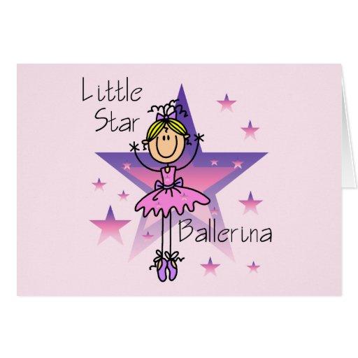 Little Star Ballerina - Blond Hair Greeting Cards