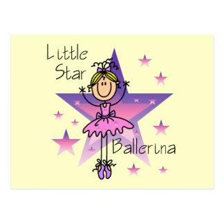 Little Star Ballerina - Blond Hair Postcard