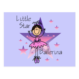Little Star Ballerina - Brown Hair Postcard