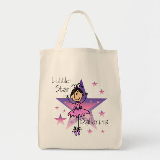 Little Star Ballerina - Brown Hair Tote Bag