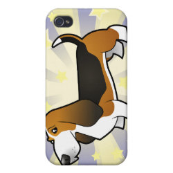 Case Savvy iPhone 4 Matte Finish Case with Basset Hound Phone Cases design