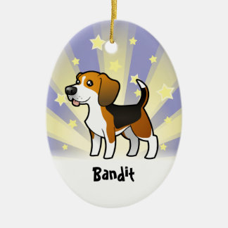 Little Star Beagle (add your pets name) Ceramic Ornament