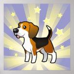 Little Star Beagle Print