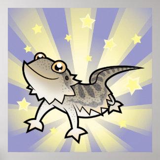 Little Star Bearded Dragon / Rankins Dragon Poster