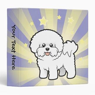 Little Star Bichon Frise Vinyl Binder