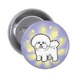 Little Star Bichon Frise Button