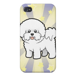 Case Savvy iPhone 4 Matte Finish Case with Bichon Frise Phone Cases design