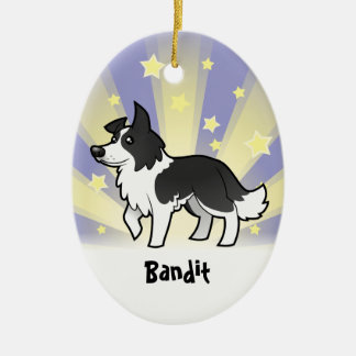 Little Star Border Collie (add your pets name) Ceramic Ornament