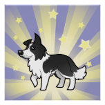 Little Star Border Collie Poster