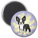 Little Star Boston Terrier 2 Inch Round Magnet